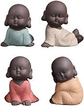 4pcs Baby Buddhas Crafts Ornament Little Monks Figurine Automotive Cute Kungfu Monk Car Interior Display Decoration Car Da...