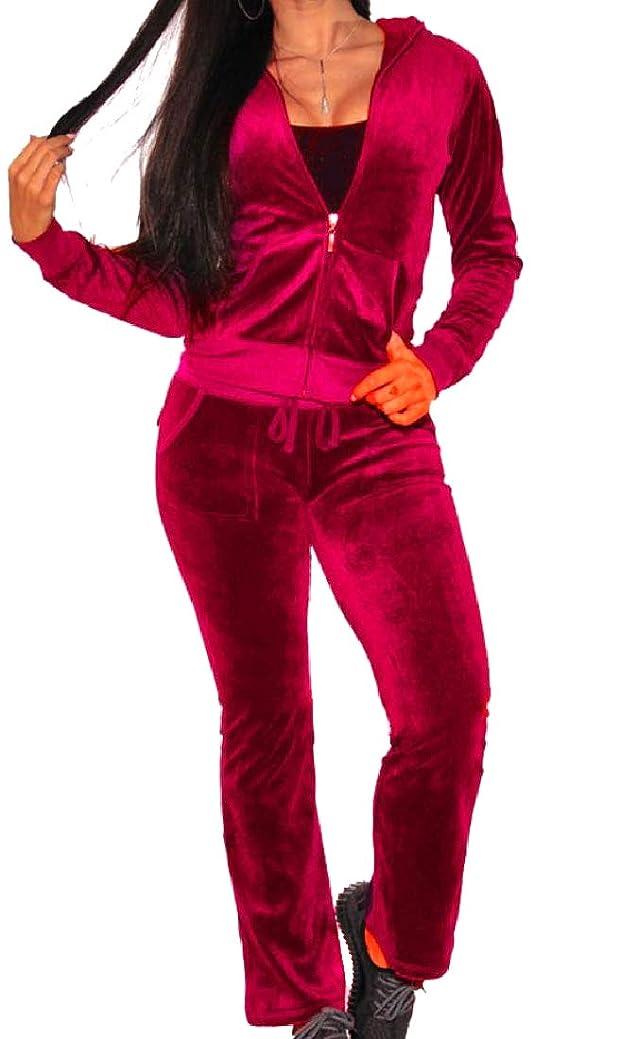 線形憂鬱抗議女性特大ベロアベルベットスウィートシャツカジュアルパンツパンツ