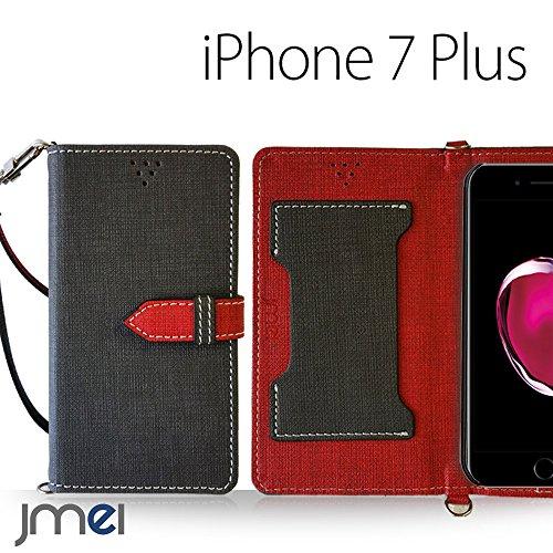 iPhone 7 Plus ケース JMEIオリジナルカルネケース VESTA ブラック アイフォン 7 プラス docomo apple アップル iphone7 スマホ カバー スマホケース 手帳型 ショルダー スリム スマートフォン