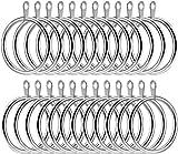 Sunnysam - 20 Anillas de Metal para Cortina de 45 mm de diámetro Interno