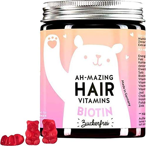 Bears w Benefits I Hair Gums Frauen I Zuckerfrei Made in Germany I Nahrungsergänzungsmittel hochdosiert I Biotin, Folsäure, Zink
