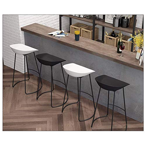 AYU Breakfast Kitchen Counter Chairs Bar Stools Set of 4 Plastic Barstools Black Metal Legs Seat Kitchen Counter Bar Breakfast Chairs Height 25.6inch/27.5inch/29.5inch