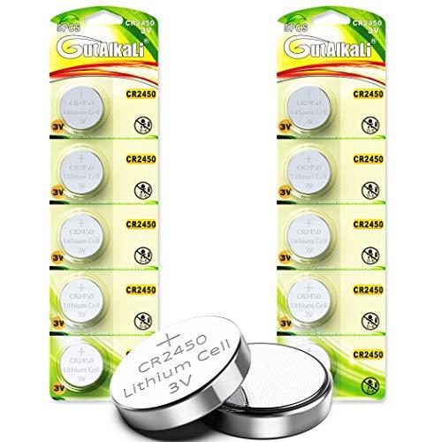CR2450 Lithium-Knopfzellen, 10 Stück 3V Lithium Knopfzelle Elektro CR 2450 Lithium (CR2450-10er)