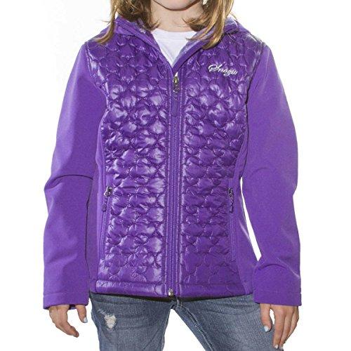 Snozu Softshell Hooded Jacket for Girls (Medium / 10-12, Purple)