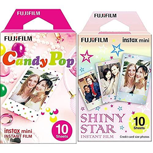 Fujifilm Instax Mini Monopack de 10 Films pour développement instantané Shiny Star & Fujifilm 70100139614 Instax Mini Monopack Candy Pop (10v)