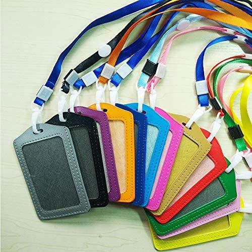 Funda para tarjeta de crédito, tarjetero, funda para tarjeta de identificación, piel sintética y correa, soporte para tarjeta de trabajo, color verde 1pc