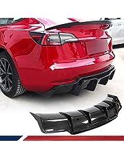 LY-QCYP Difusor Trasero del Coche, Apto para Tesla Model 3 Sedan 2016-2020 Fibra de Carbono Parachoques Trasero CF Difusor Protector de alerón Labial