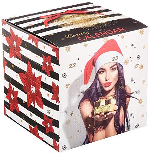 Accentra Kosmetik Adventskalender quadratisch für Teenager Mädchen & Frauen, 24 Nagelpflege & Make-up Kleinigkeit, abwechslungsreicher Beauty-Inhalt