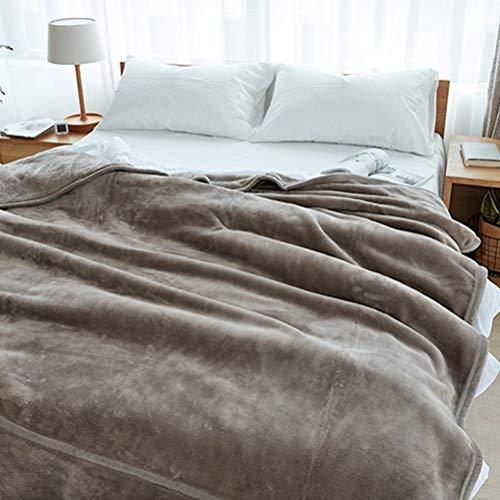 Lfixhssf grof fleece koraal lakens dikke flanel deken enkele dutje deken winter effen kleur Lfixhssf 180x200cm Geel
