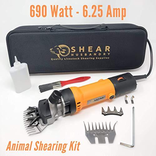Sheep Shears Electric Animal Clippers - RAMBOUILLET Animal Shears for Sheep, Alpaca, Llama, Goat and Farm Animals - 690 WATT Handheld Clipper Tools Set for Shearing Grooming Livestock