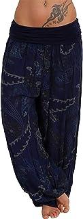 Qootent Women Harem Pants Bloomers Summer Pants Lightweight Wide Leg Trousers