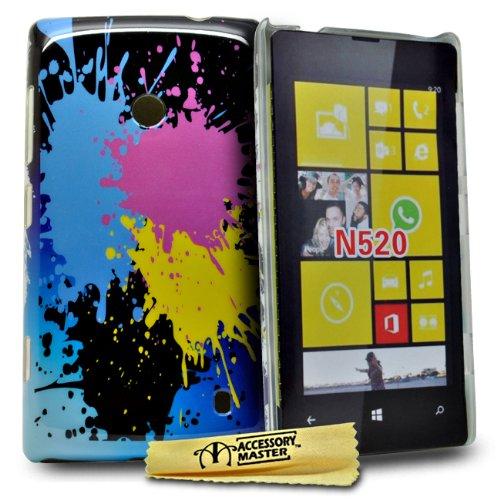 Accessory Master-Cover Rigida per Nokia Lumia 520, Motivo Gocce