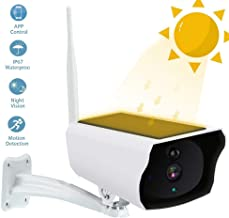 Volwco Solar-Powered Outdoor Security Camera,Home Wireless IP Camera Remote Controlling Camera Bullet Surveillance Cameras with Accurate Motion Detection,Wide Angle Range, Quick Alert and Night-Sight