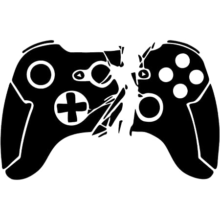"""SITAKE Game Room Decor /""""Gamepad White 13.8 /× 22.0 Inch Fist/"""" Boys Room Decorations for Bedroom Kids Wall Decor and Wall Stickers for Playroom"""
