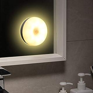 Slec Tech ナイトライト センサーライト 人感 運動センサー 足元灯 間接照明 コンセント USB充電式 明るさ調節 LED 廊下 玄関 階段用 室内夜間照明 停電対策 75mm