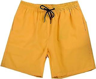 RkBaoye Men Elastic Drawstring Casual Straight Fast Dry Pants Shorts Trunks