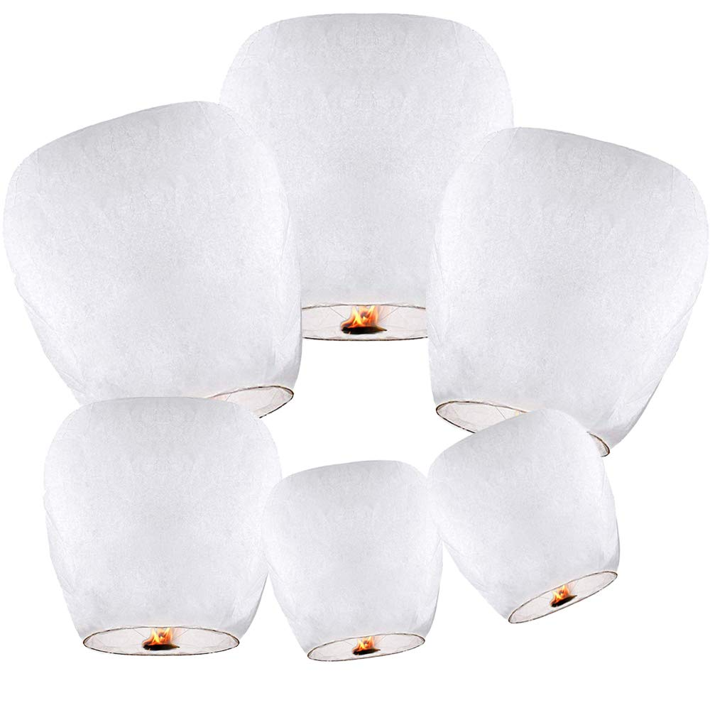 Chinese Lanterns Pack White Friendly Biodegradable
