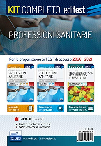Professioni sanitarie. Kit completo. Con ebook. Con software. Con Video