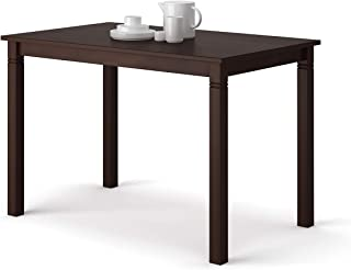 Giantex Dining Table for 6 Person Wood Multipurpose Table for Dining Room, Kitchen or Study, Rectangular Desk with Oak Legs, Espresso (43.5
