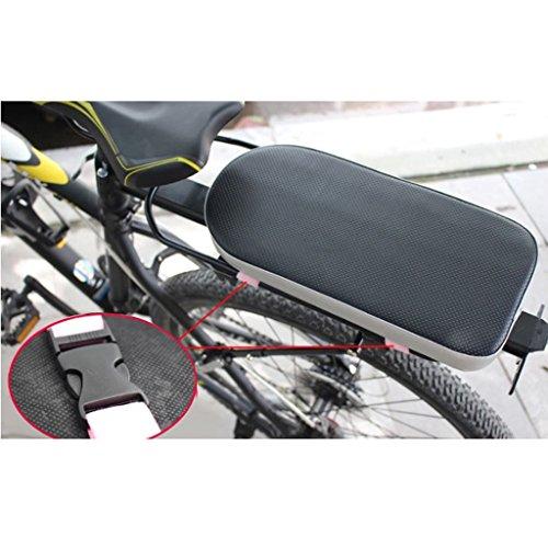 Hellery Cómoda Bicicleta de La Bicicleta MTB de Cojín Suave Bastidor del Asiento Trasero para Los Hijos Adultos