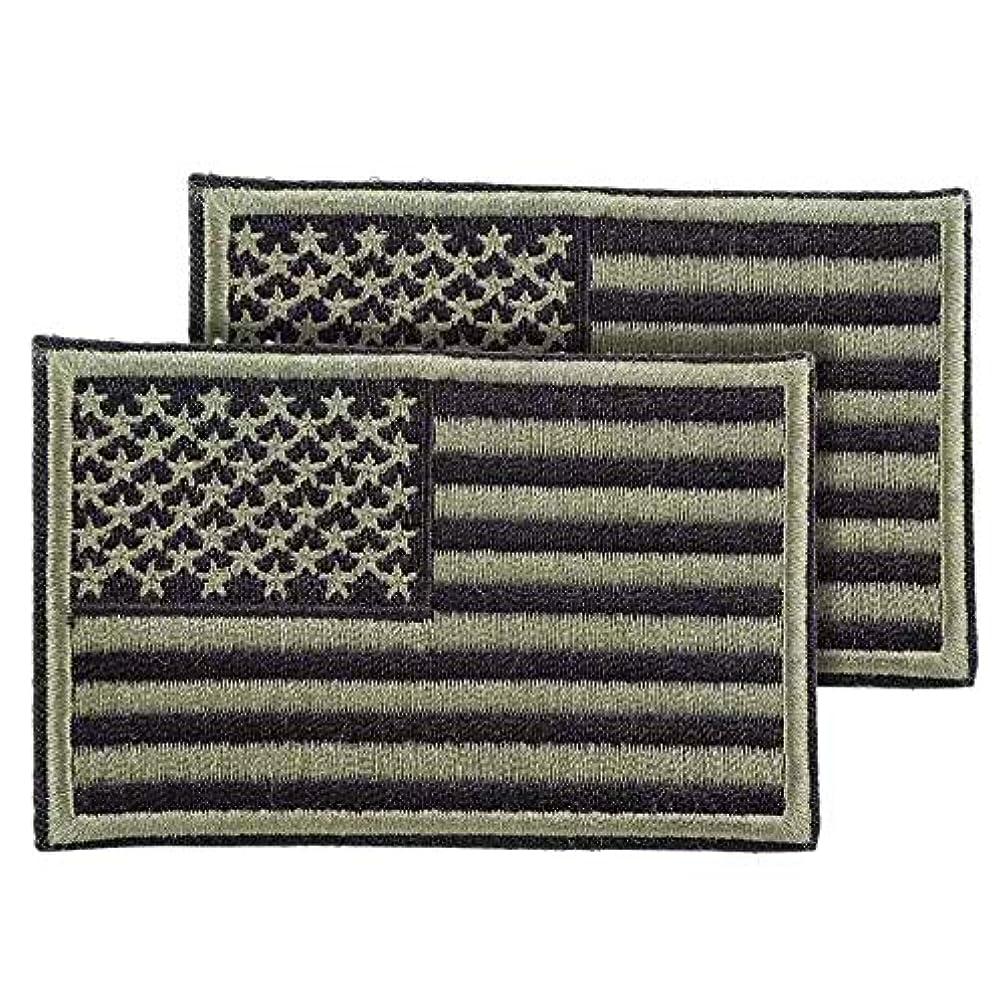 Tactical Morale Patch USA Flag Embroidered American Flag Patch Hook&Loop Fastener Backing Emblem 2
