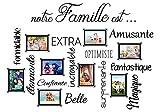 Sticker 8 Cadres photos - notre famille est. (NOIR) - 109x80 cm - Marque Beestick