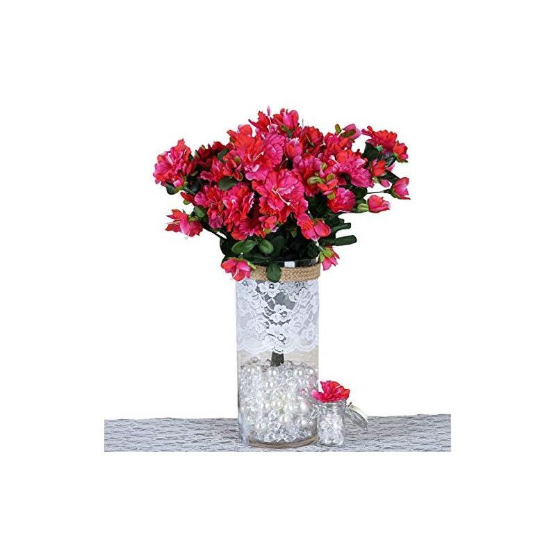 silk flower arrangements balsacircle 120 pcs silk gardenia flowers - 4 bushes - artificial wedding party centerpieces arrangements bouquets supplies