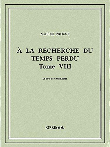 Couverture du livre À la recherche du temps perdu VIII