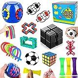 Pachock Juego de Juguetes Sensoriales para Alivio del estrés 18Pcs Kit de Juguetes Alivia El Estrés Y La Ansiedad Sensory Toy Set para niños y Adultos para ADHD, Autismo, estrés y ansiedad