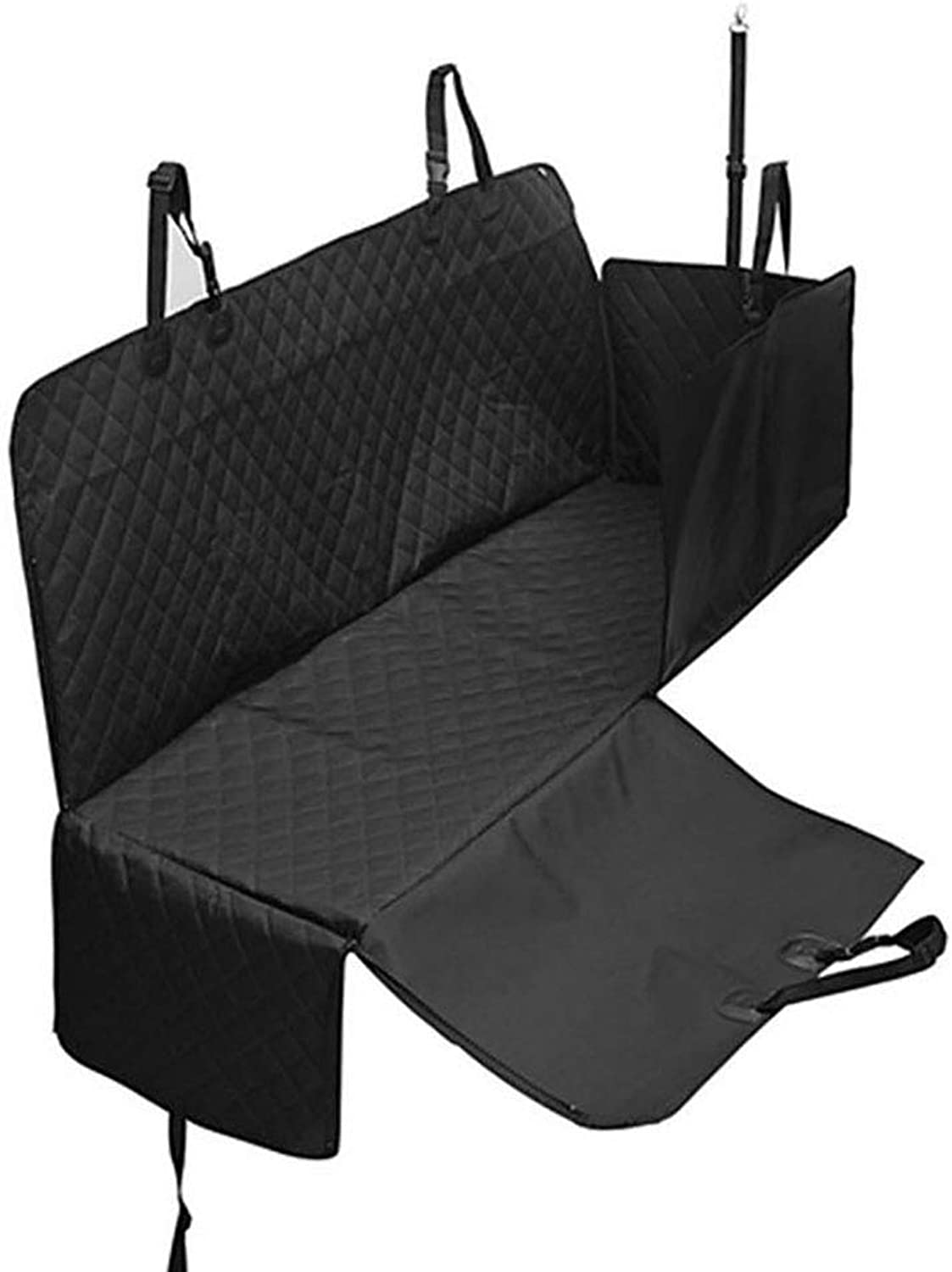 FXQIN Dog Car Seat Covers,Dog Seat Cover Pet Seat Cover For Cars, Trucks, And Suv  Black, 100% Waterproof, Scratch Proof & Nonslip Backing& Quilted & Hammock