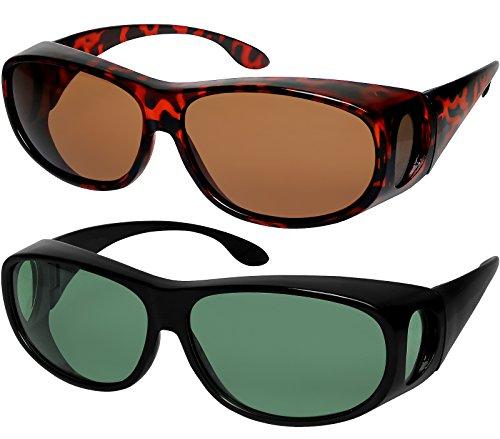 Fit Over Sunglasses Polarized Lens Wear Over Prescription Eyeglasses 100% UV Protection for Men and Women