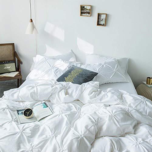LDDPP de algodón extra largas de grapas extra largas, de color puro sedoso de algodón de grapa larga se adapta a colchón,tejido de satén, juego de sábanas de 4 piezas,algodón,blancanieves,5ft/6ft bed