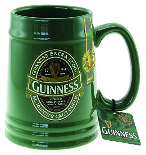 Guinness Green Collection Solid Green Tankard by Guinness Official Merchandise