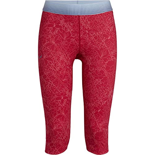 Salewa Pedroc Dry W 3/4 Tights Collants Femme, Rose Red Flower, 48/42