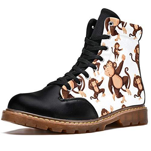 LORVIES - Botas de invierno para hombre, diseño de mono, color marrón, (multicolor), 42 EU
