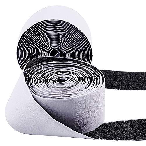 GORGECRAFT - Cinta adhesiva de velcro de 10 m, cinta adhesiva de...