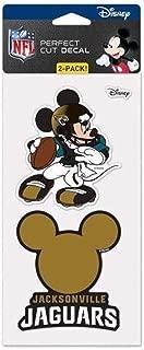 Jacksonville Jaguars Mickey Mouse Disney 2 Piece Perfect Cut Decal Sheet 4