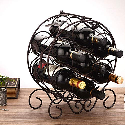 LBYSK Wine Rack Multi-Bottiglia di Vino Bottiglia espositore Ferro di Modo Ornamenti della casa di Modo di Stile Morbido Arredamento Ideasgrape Wine Rack Bella Geometrica Ferro