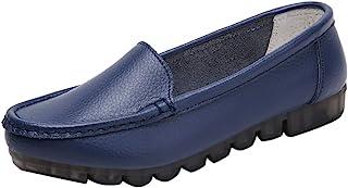 Mocassins Femme Cuir,Overdose Classique Chaussures Plates Loafers Chaussures de Conduite Chaussures de Ville Confortable 3...