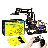 KEYESTUDIO 4 DOF Robot Acrilico Kit Braccio Fai da Te for Arduino Maker Learning Support SG90 Servo di Accessori Sostituire Le Parti da Soli(Senza scheda di controllo)