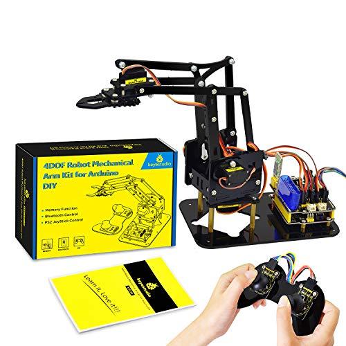 KEYESTUDIO Robot Arm Servo Control Rotación Kit Robotica para Arduino IDE, electrónica y programación Diy