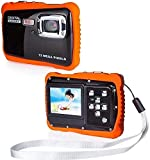 Cartoon Children Waterproof Camera, Underwater Sports Camera Camcorder HD720p 12MP Digital Sports Camera, with 16GB Memory Card, 8X Digital Zoom