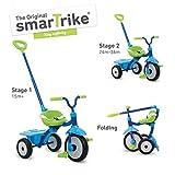 smarTrike Triciclo Plegable y Estable, 131-0900, Azul/Verde