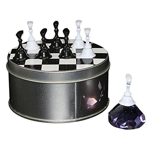 lzndeal 1 jeu d'échecs Conseil magnétique nail art pointe Crystal stand sets présentoir salon