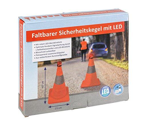 III 10049516Cono de seguridad plegable con luz LED, aprox. 45cm