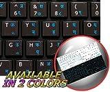 4Keyboard MAC English Hindi Keyboard Stickers ON Black Background for Desktop, Laptop and Notebook