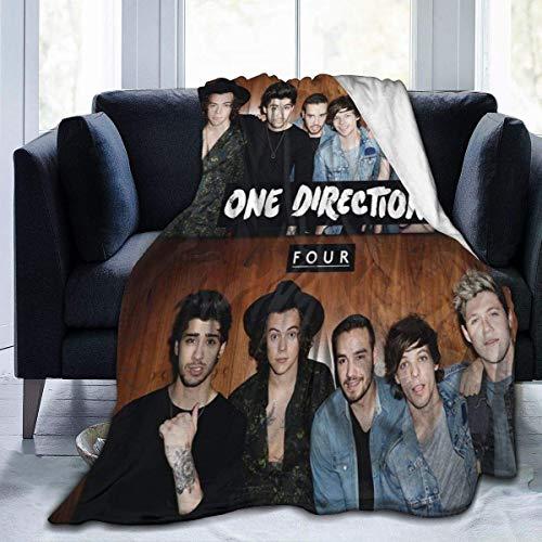N \ A One Direction Four Leisure - Manta de forro polar suave y cálida para invierno, ultrasuave, para cama, sala de estar