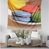 LMXYF Wandteppich Farbige Kekse Indischen Mandala Böhmischen Wandbehang Hauptdekoration 150X150Cm