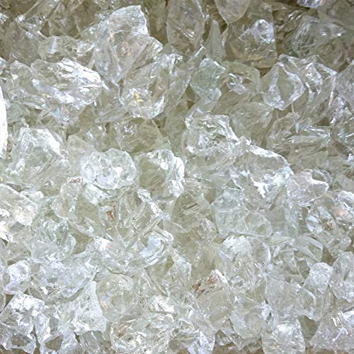 Fliesenhandel Fundus Glasbrocken Glassteine klar Gabionenfüllung Gabionen Streusteine KLAR (25kg, 50-150 mm)