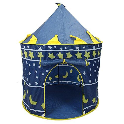 TOOGOO Tienda de playa para ninos ultra grande, Casa de jugar un juego juguete del bebe, Castillo princesa principe ninos Tienda Juguete exterior interior Regalos de Navidad